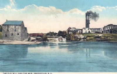 Vardry McBee&#39;s Old Mill (Left) and<br>Camperdown Mill No. 2 (Right) image. Click for full size.