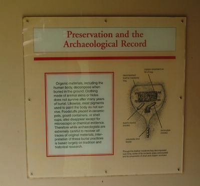 Preservation and the Archaeological Record Marker image. Click for full size.
