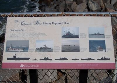 The Chesapeake Bay : History Happened Here Your Navy at Work Marker image. Click for full size.