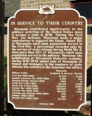 In Service to Their Country Marker image. Click for full size.