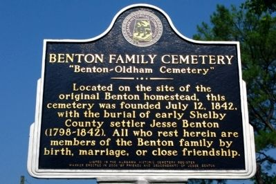 Benton Family Cemetery Marker image. Click for full size.