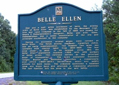 Belle Ellen Marker image. Click for full size.