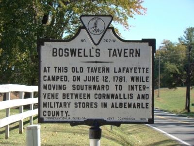 Boswell's Tavern Marker image. Click for full size.