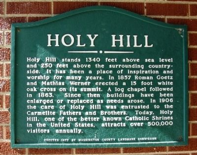 Holy Hill Marker image. Click for full size.