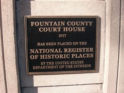 Fountain County (Indiana) Court House Marker image. Click for full size.