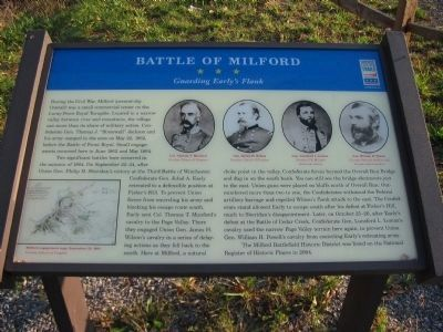 Battle of Milford Marker image. Click for full size.