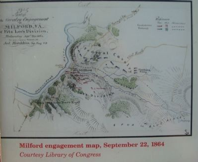 Milford Engagement Map, September 22, 1864 image. Click for full size.
