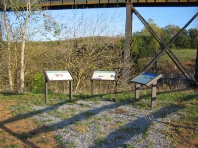 Markers at Overall Run Bridges image. Click for full size.