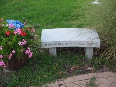 Bench Next to the Memorial image. Click for full size.
