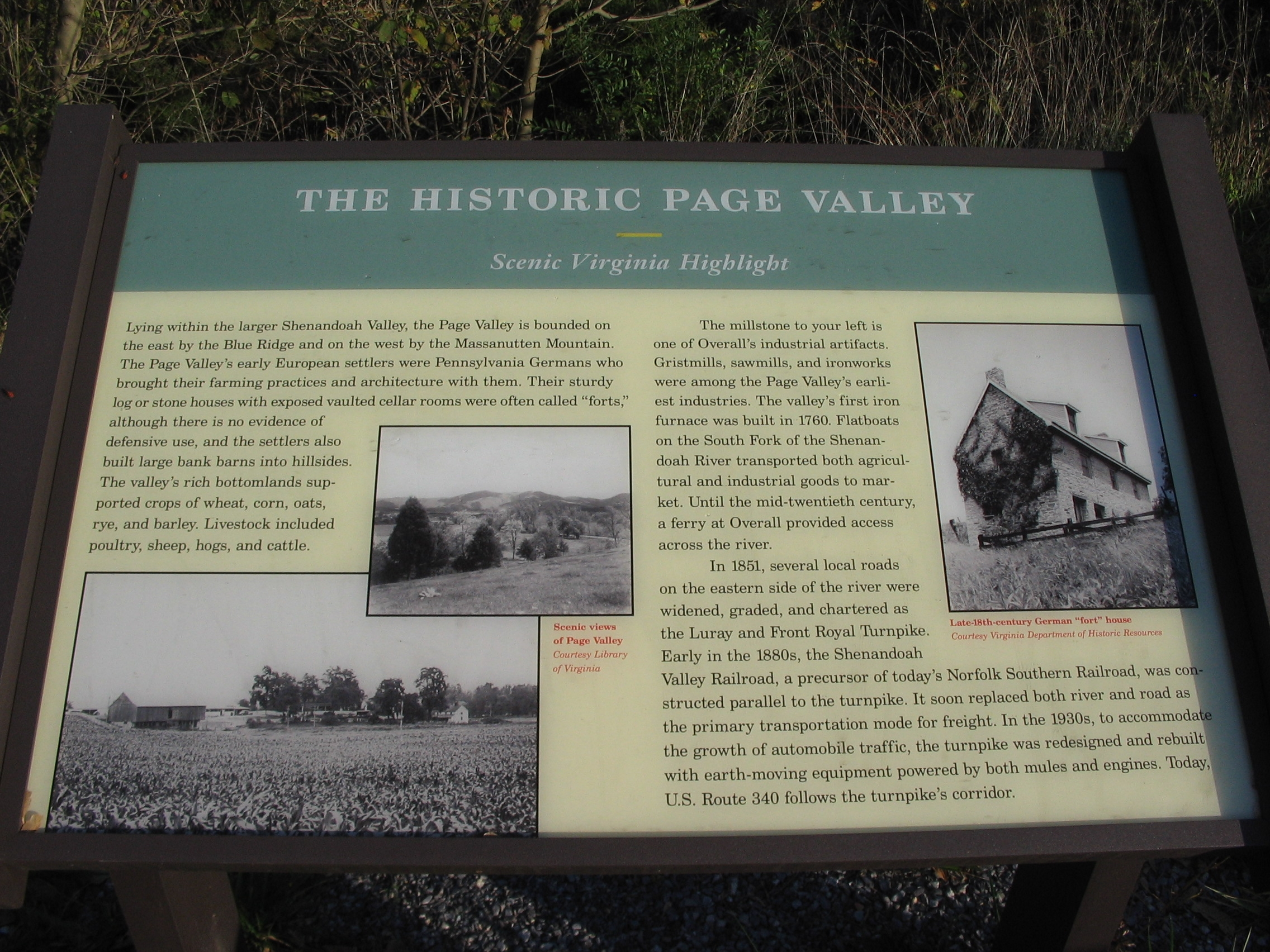 The Historic Page Valley Marker