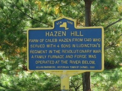 Hazen Hill Marker image. Click for full size.