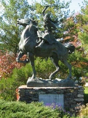 Sybil Ludington Monument image. Click for full size.