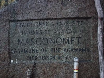 Masconomet Sagamore of the Agawams Marker image. Click for full size.
