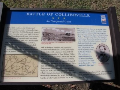 Battle of Collierville Marker image. Click for full size.