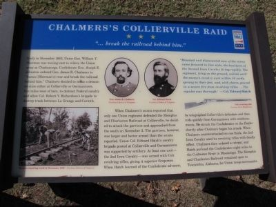 Chalmers's Collierville Raid Marker image. Click for full size.