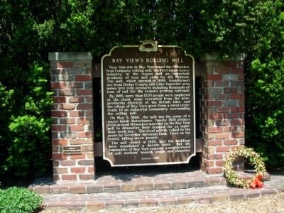 Bay View's Rolling Mill Marker image. Click for full size.