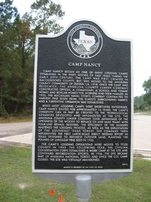 Camp Nancy Marker image. Click for full size.