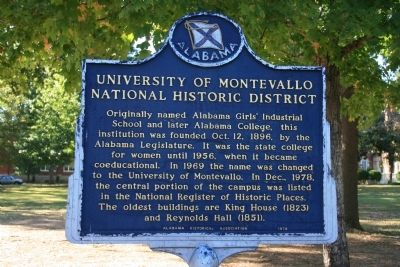 University Of Montevallo National Historic District Marker image. Click for full size.