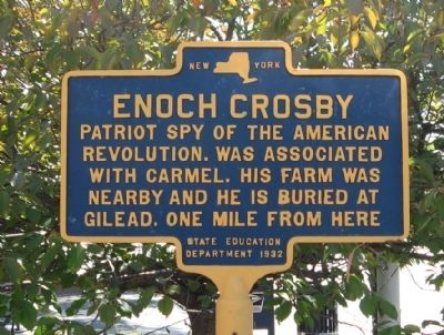 Enoch Crosby Marker image. Click for full size.