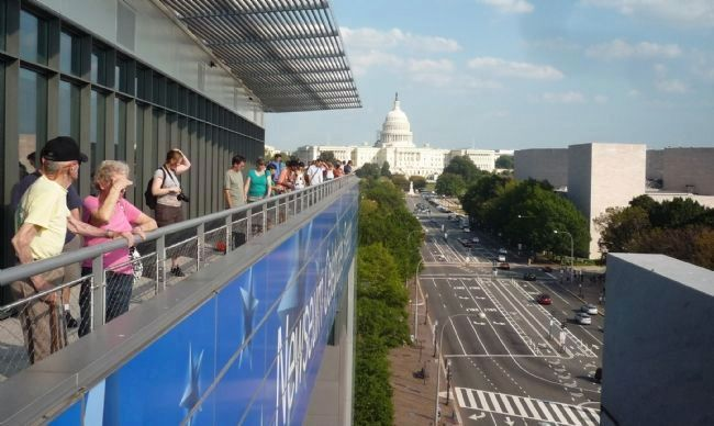 The Newseum's Pennsylvania Avenue Terrace image. Click for full size.