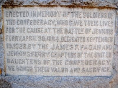 Battle of Jenkins' Ferry Marker image. Click for full size.