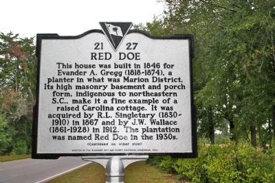 Red Doe Marker (front) image. Click for full size.