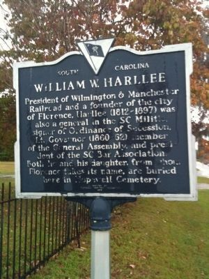 William W. Harllee Marker image. Click for full size.