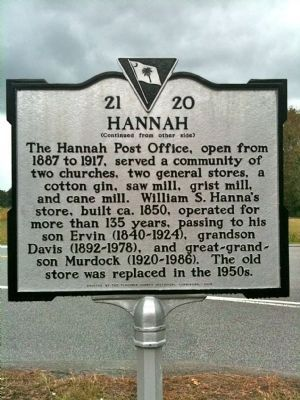 Hannah Marker (reverse) image. Click for full size.