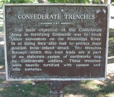 Confederate Trenches Marker image. Click for full size.