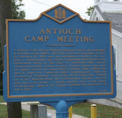 Antioch Camp Meeting Marker image. Click for full size.