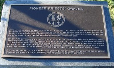 Pioneer Priests' Graves Marker image. Click for full size.