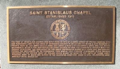 Saint Stanislaus Chapel Marker image. Click for full size.