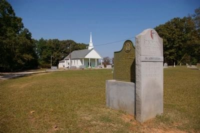 Stinchcomb Methodist Church Marker and Church image. Click for full size.
