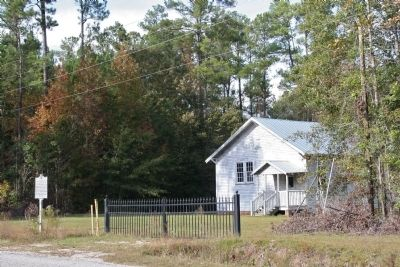 Mt. Zion Rosenwald School Marker and School image. Click for full size.