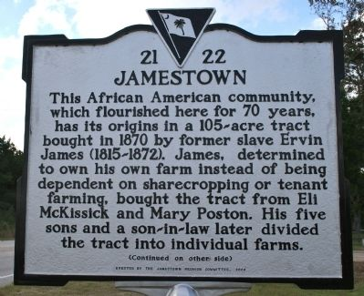 Jamestown Marker (front) image. Click for full size.