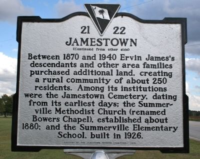 Jamestown Marker (reverse) image. Click for full size.