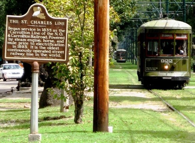 The St. Charles Line and Marker image. Click for full size.