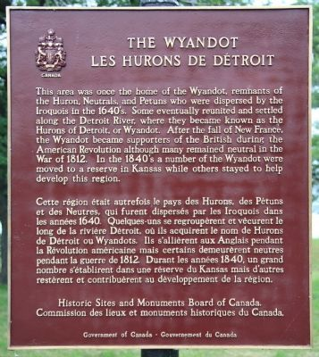 The Wyandot Marker image. Click for full size.