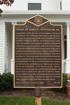 Home of John G. Townsend, Jr. Marker image. Click for full size.