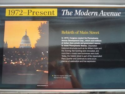 Pennsylvania Avenue Marker Panel 7 image. Click for full size.