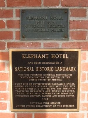 Elephant Hotel Markers image. Click for full size.
