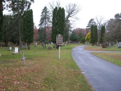 Evergreen Cemetery / Earliest Evergreen Burials Marker image. Click for full size.