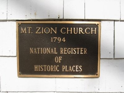 Mt. Zion Church Marker image. Click for full size.