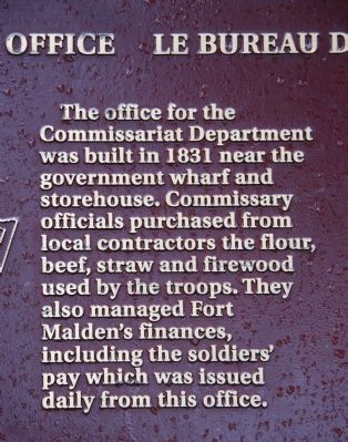 The Commissariat Office Marker image. Click for full size.