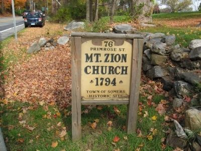 Mt. Zion Church Marker on the Road image. Click for full size.
