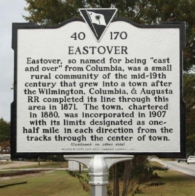 Eastover Marker image. Click for full size.