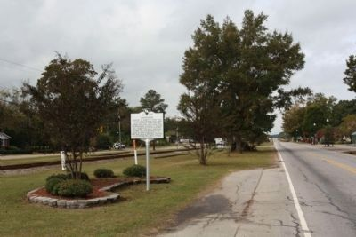 Eastover Marker, looking west along Main Street image. Click for full size.
