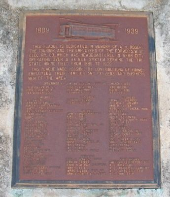 Southwest Missouri Electric Railway Company Marker image. Click for full size.