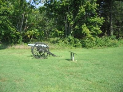 Marker and Artillery Display Seen from the Parking Area image. Click for full size.
