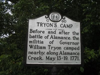 Tryon's Camp Marker image. Click for full size.
